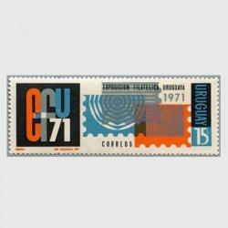 ウルグアイ 1971年ウルグアイ切手展 ※シミ