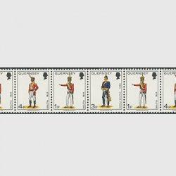 ガーンジー島 1974年軍服8連(4種)