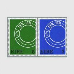 アイルランド 1974年消印2種