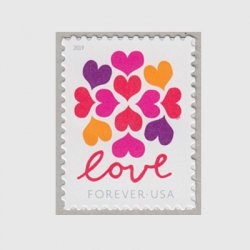 アメリカ 2019年普通切手「LOVE」