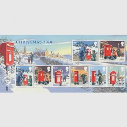 イギリス 2018年クリスマスミニチュアシート