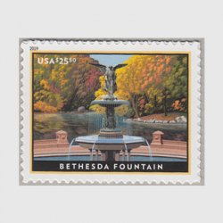 アメリカ 2019年ベセスダの噴水速達切手