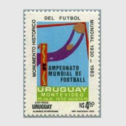 ウルグアイ 1984年第1回サッカーワールドカップinモンテビデオ※シミあり