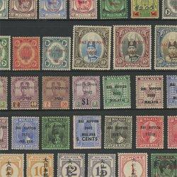 南方占領地マライ加刷切手35種