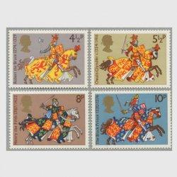 イギリス 1974年中世の騎士4種