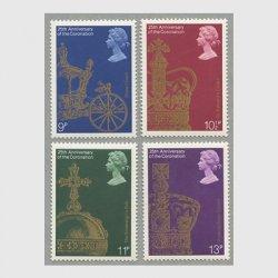 イギリス 1978年エリザベス女王戴冠式25年4種