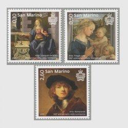 サンマリノ 2019年ルネサンス、バロック時代の画家3種
