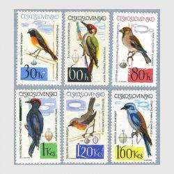 チェコスロバキア 1964年鳥6種