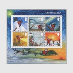 イギリス 2004年クリスマス小型シート ※難品
