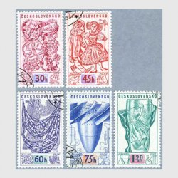 チェコスロバキア 1958年宝石など5種使用済