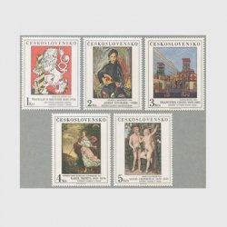 チェコスロバキア 1986年美術切手5種