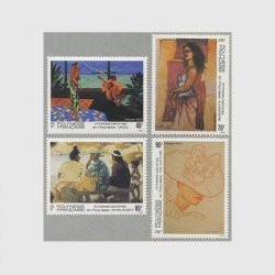 フランス領ポリネシア 1993年絵画4種