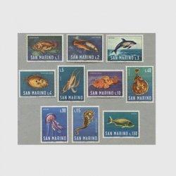 サンマリノ 1966年海の生物10種