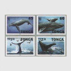 トンガ 1996年WWFクジラ4種