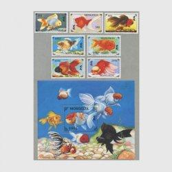 モンゴル 1995年金魚8種