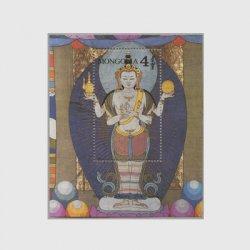 モンゴル 1990年19世紀の仏画小型シート