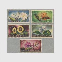インドネシア 1957年花5種