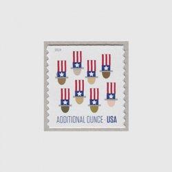アメリカ 2019年普通切手「アンクルサムの帽子コイル」
