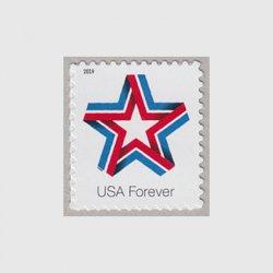 アメリカ 2019年普通切手「スターリボン」