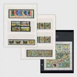 海外「蝶・蛾」切手コレクション