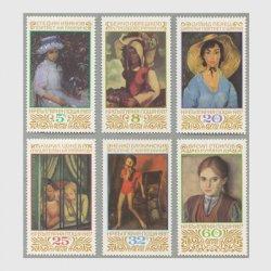 ブルガリア 1987年ソフィアシティアートギャラリーの収蔵絵画6種