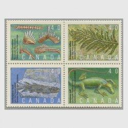 カナダ 1991年古代生物植物4種田型