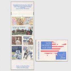 スウェーデン 1988年 ニュースウェーデン350年 切手帳