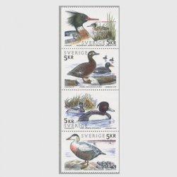 スウェーデン 1993年水鳥4種連刷