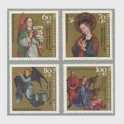 ドイツ 1991年クリスマス4種