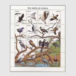 ガーナ 1991年ガーナの 鳥シート