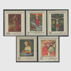 チェコスロバキア 1969年絵画シリーズ5種
