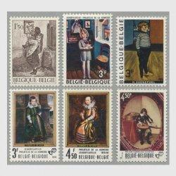 ベルギー 1971-6年青年切手趣味の日6種