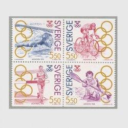 スウェーデン 1992年オリンピックチャンピオン4種連刷