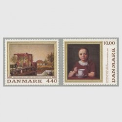 デンマーク 1989年絵画2種