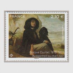 フランス 2019年美術切手ギュスターヴ・クールベ