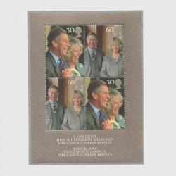 イギリス 2005年チャールズ皇太子成婚 小型シート
