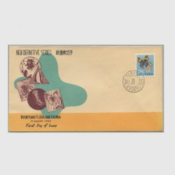 沖縄初日カバー 1959年第1次動植物13c