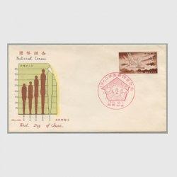 沖縄初日カバー 1960年国勢調査  カシェタイプ2
