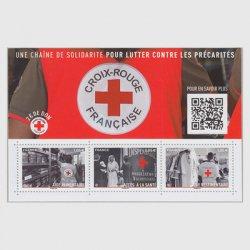 フランス 2019年赤十字ミニチュアシート附加金付