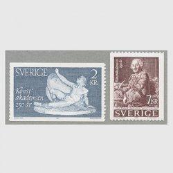 スウェーデン 1985年王立美術アカデミー250年2種
