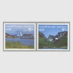 グリーンランド 1995年観光切手2種