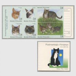 フィンランド 1995年猫 切手帳