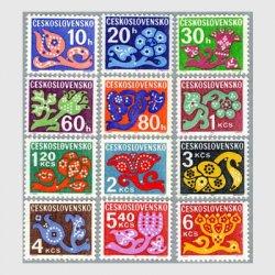 チェコスロバキア 1971年花デザイン12種