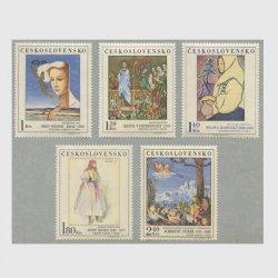 チェコスロバキア 1971年美術切手5種