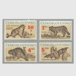 チェコスロバキア 1990年保護動物4種