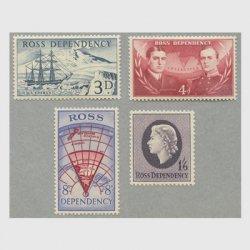 ニュージーランド ロス海属領 1957年1番切手4種