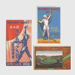絵はがき 1932年ロサンゼルスオリンピック2種タトウ付き