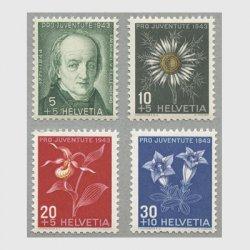 スイス 1943年慈善切手4種