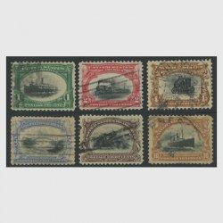 アメリカ  1901年パンアメリカン博覧会6種(使用済)