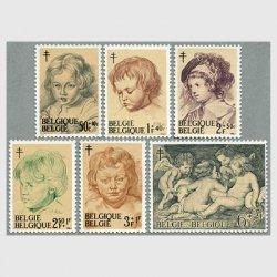 ベルギー 1963年ルーベンスの描く子供と天使6種